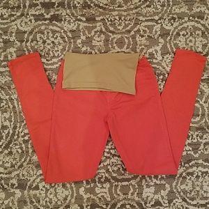 J Brand Tangerine Maternity Skinny Jeans 27